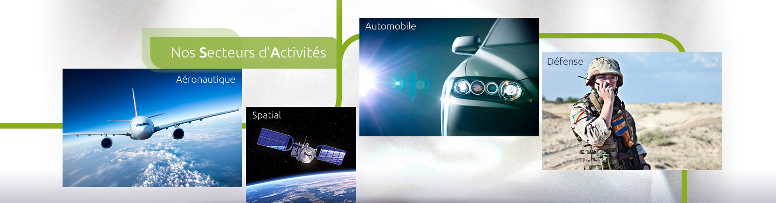 Galvanoplastie industrielle : Nos secteurs d'activités